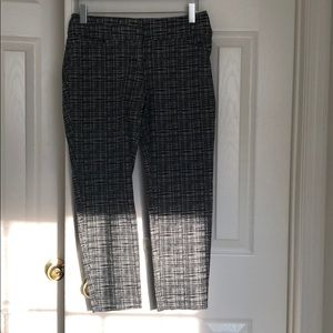 Black and white pattern dress pants